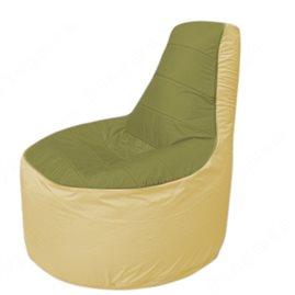 Живое кресло-мешокТрон Т1.1-1020(оливковый-бежевый)