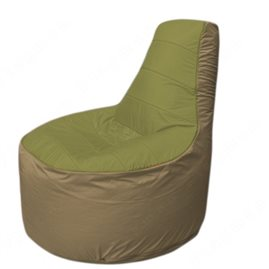 Живое кресло-мешокТрон Т1.1-1021(оливковый-тем.бежевый)