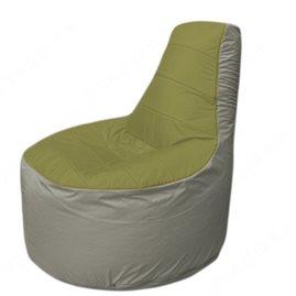 Живое кресло-мешокТрон Т1.1-1022(оливковый-серый)