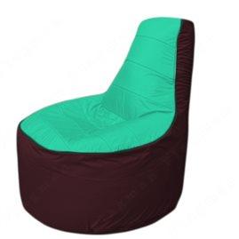 Живое кресло-мешокТрон Т1.1-1201(бирюзовый-бордовый)