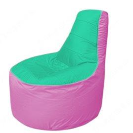Живое кресло-мешокТрон Т1.1-1203(бирюзовый-розовый)