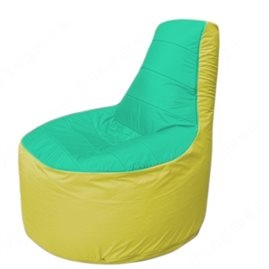 Живое кресло-мешокТрон Т1.1-1206(бирюзовый-желтый)