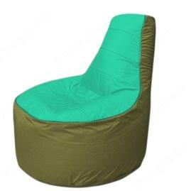 Живое кресло-мешокТрон Т1.1-1210(бирюзовый-оливковый)