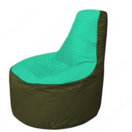 Живое кресло-мешокТрон Т1.1-1211(бирюзовый-тем.оливковый)