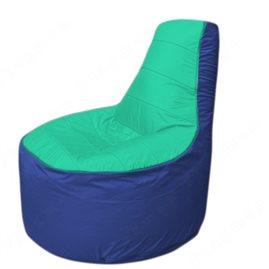 Живое кресло-мешокТрон Т1.1-1214(бирюзовый-синий)