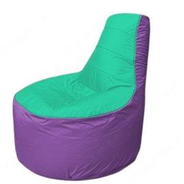 Живое кресло-мешокТрон Т1.1-1217(бирюзовый-сиренивый)