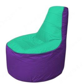 Живое кресло-мешокТрон Т1.1-1218(бирюзовый-фиолетовый)