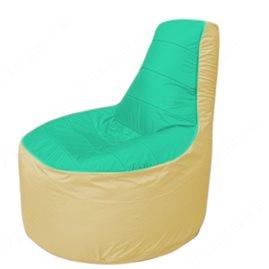 Живое кресло-мешокТрон Т1.1-1220(бирюзовый-бежевый)