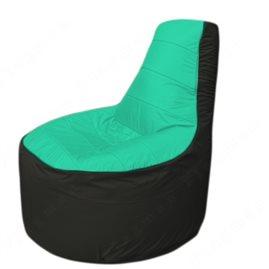 Живое кресло-мешокТрон Т1.1-1224(бирюзовый-черный)