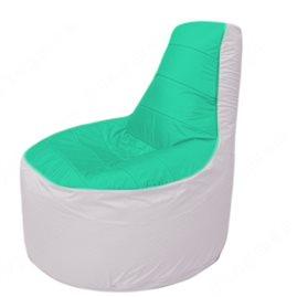 Живое кресло-мешокТрон Т1.1-1225(бирюзовый-белый)