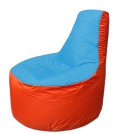 Живое кресло-мешокТрон Т1.1-1305(голубой-оранжевый)
