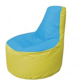 Живое кресло-мешокТрон Т1.1-1306(голубой-желтый)