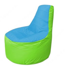 Живое кресло-мешокТрон Т1.1-1307(голубой-салатовый)
