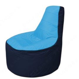 Живое кресло-мешокТрон Т1.1-1316(голубой-тем.синий)