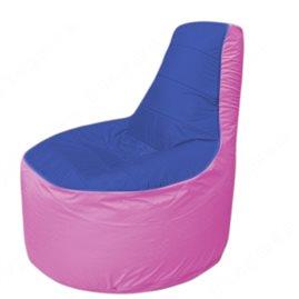 Живое кресло-мешокТрон Т1.1-1403(синий-розовый)