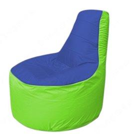 Живое кресло-мешокТрон Т1.1-1407(синий-салатовый)