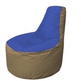 Живое кресло-мешокТрон Т1.1-1421(синий-тем.бежевый)