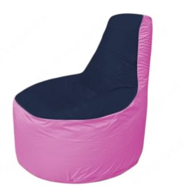 Живое кресло-мешокТрон Т1.1-1603(тем.синий-розовый)