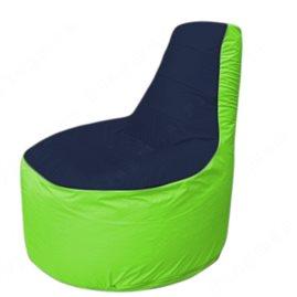 Живое кресло-мешокТрон Т1.1-1607(тем.синий-салатовый)