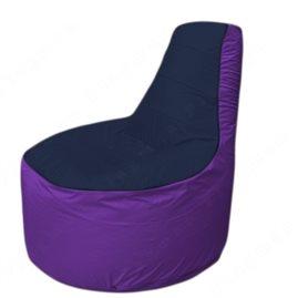 Живое кресло-мешокТрон Т1.1-1618(тем.синий-фиолетовый)