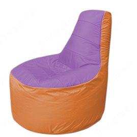 Живое кресло-мешокТрон Т1.1-1705(сиренивый-оранжевый)