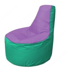 Живое кресло-мешокТрон Т1.1-1712(сиреневый-бирюзовый)