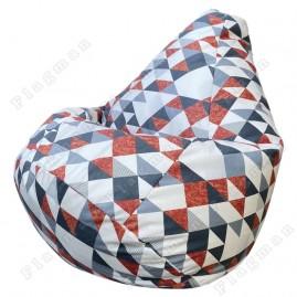 Кресло-мешок Груша Ромб (жёлтый)