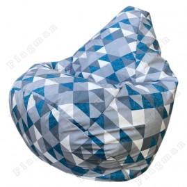 Кресло-мешок Груша Ромб (красный)